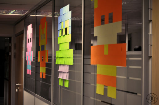Décoration post it